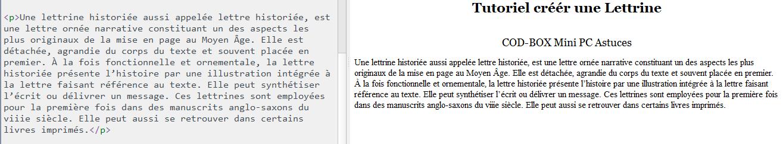 Créer un lettrine Calibre ou HTML 2