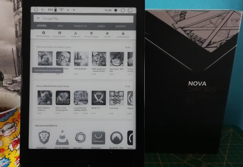 BOOX Onyx NOVA et Nova Pro google Play