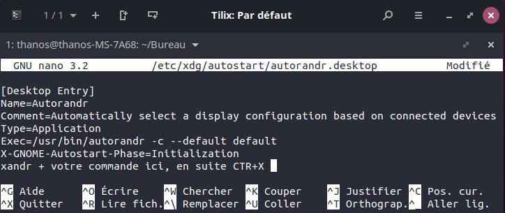 Ubuntu fix rotation au demarage notebook desktop
