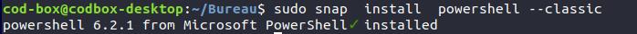 Ubuntu Install Powershell snap