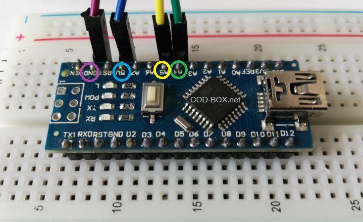 LCM 1602 IIC Arduino NANO