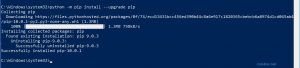 pdate PIP via console Python