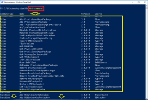 Get-Command afficher list commandes powershell