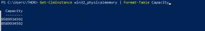 info capacity RAM