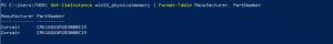 powershell commande RAM info model fabricant