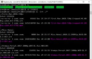 OSMC ajouter VIDEO sous HDD autant que source