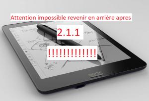 Impossible rétrograder au 2.0.1 apres Update 2.1.1