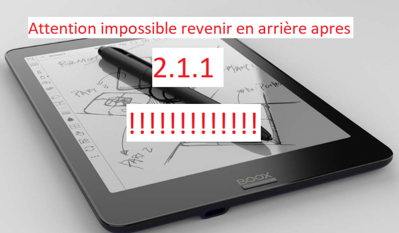 Impossible rétrograder au 2.0.1 apres Update 2.1.1