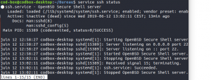 Ubuntu service ssh status