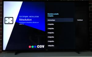 CGV EXPAND configurer 4K 2160p