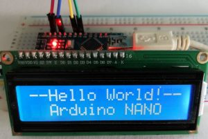 Arduino NANO LCM 1602 IIC