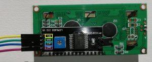Branchement de LCM 1602 IIC V1