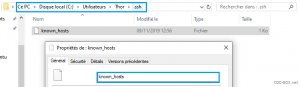 Problème connexion SSH Windows to Ubuntu REMOTE HOST IDENTIFICATION HAS CHANGED!