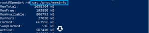 ZIDOO OpenWRT terminal command RAM info