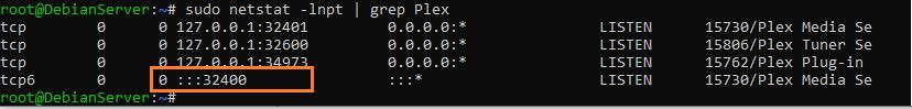PlexMediaServer ports view