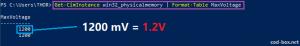 info RAM voltage commande terminal