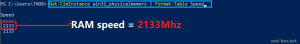 console speed RAM info