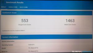 GeekBench TLC C715 benchmark