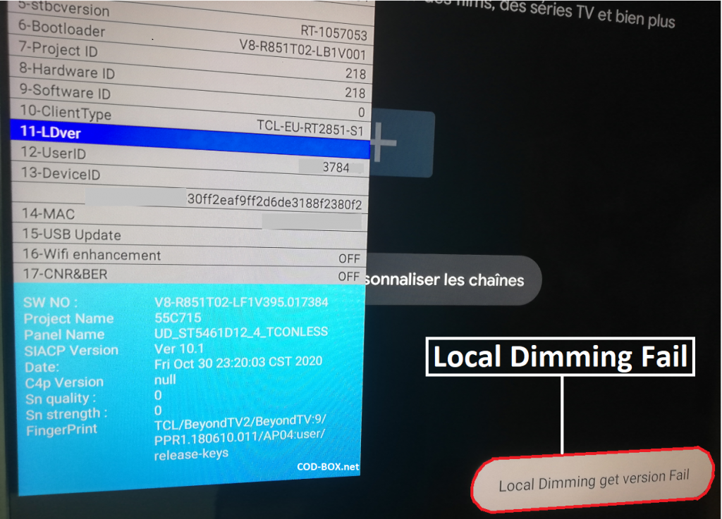 TCL C715 Local Dimming Fail