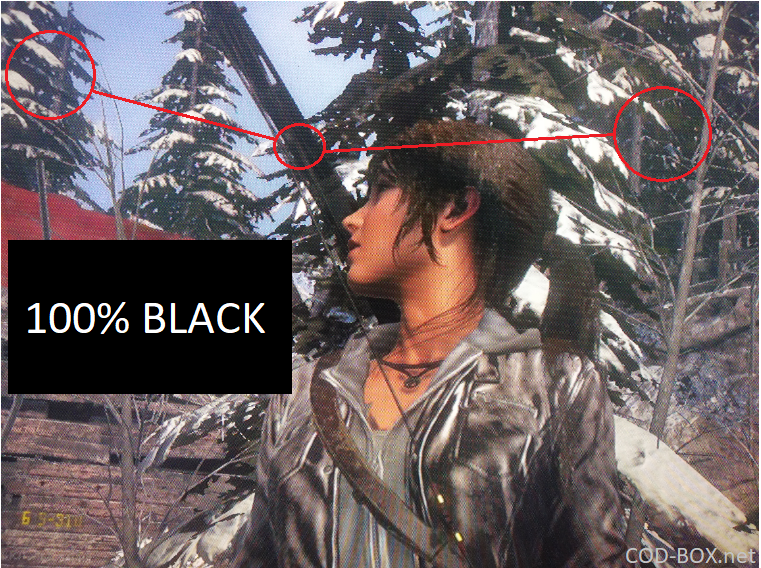 TCL C715 gaming depth of black problem