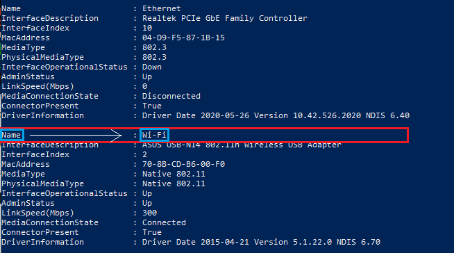 Powershell Wifi ON OFF