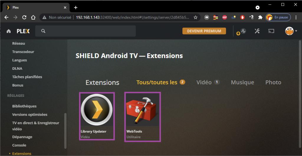 add addons bundle Nvidia Shield PRO